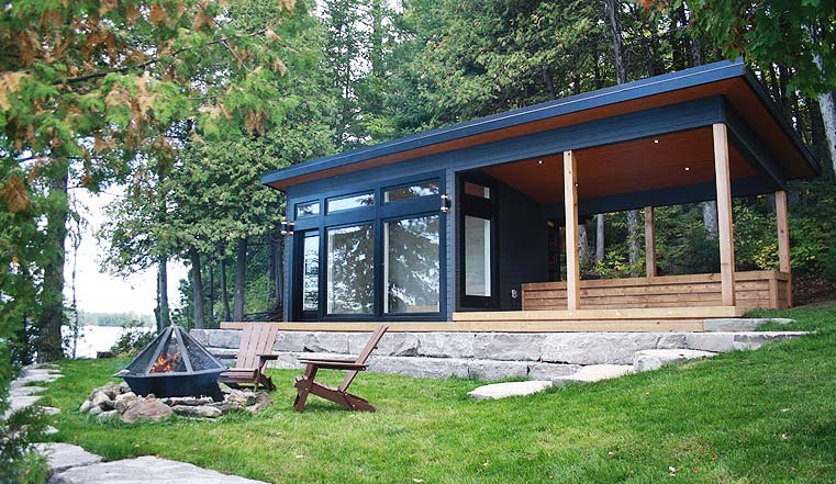 Custom Bunkie design and build with kawartha setting