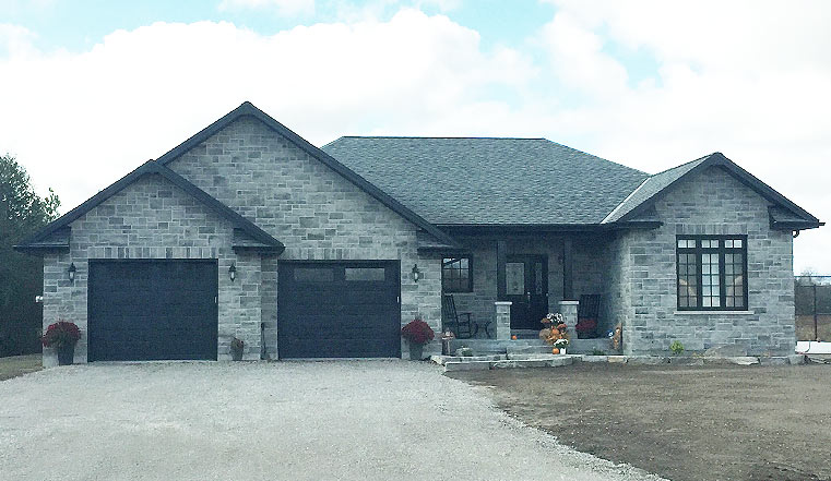Custom designed and built home in Peterborough view from the front