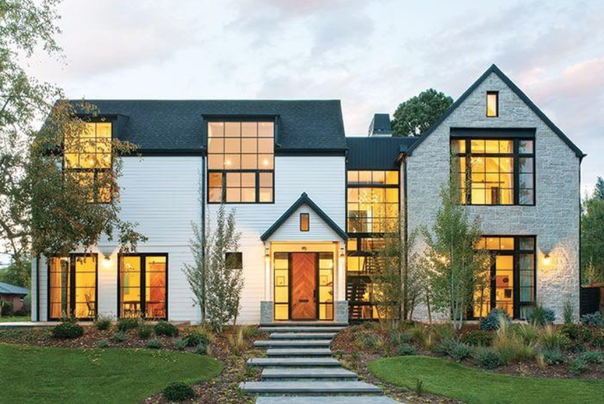 modern and traditional custom home design